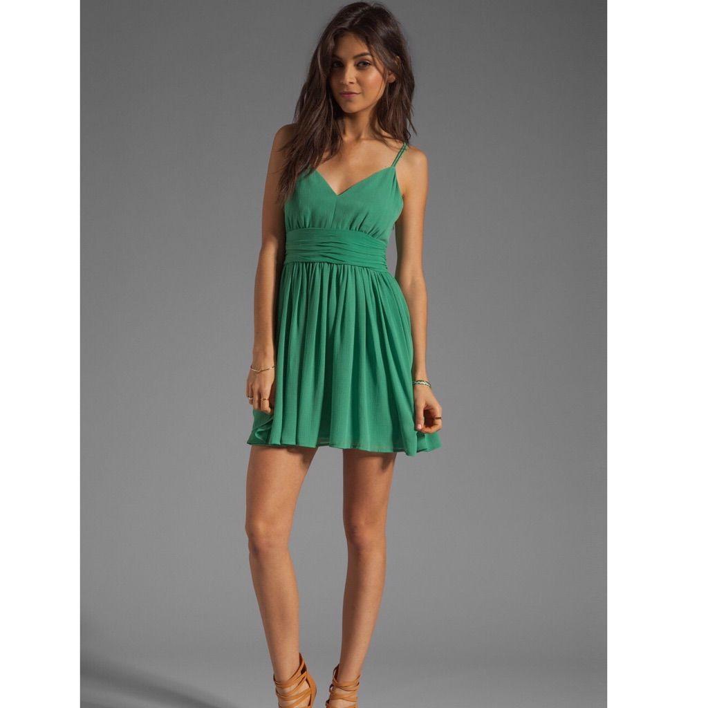 Mint green long dress  Bb Dakota Edie Chiffon Dress In Dark Mint   Chiffon dress Bb and
