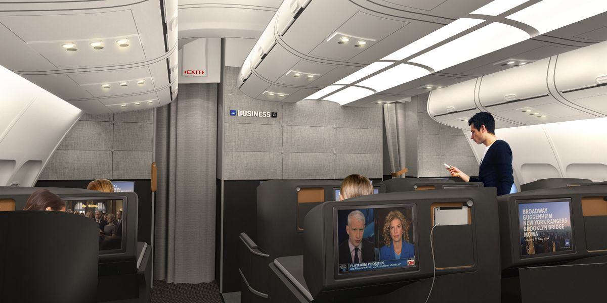 Sas Business Airline Interiors Aircraft Interiors Business Class