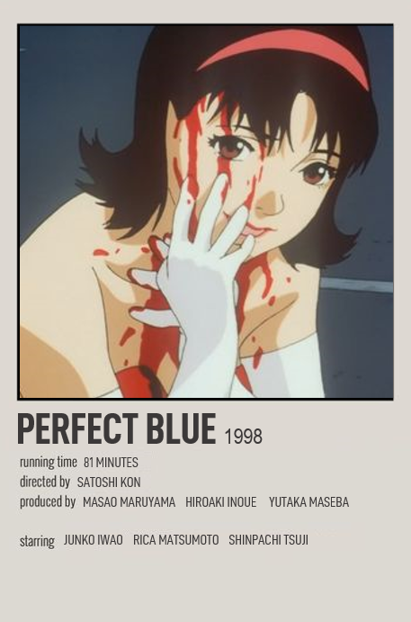Perfect Blue In 2020 Movie Poster Wall Anime Movies Anime