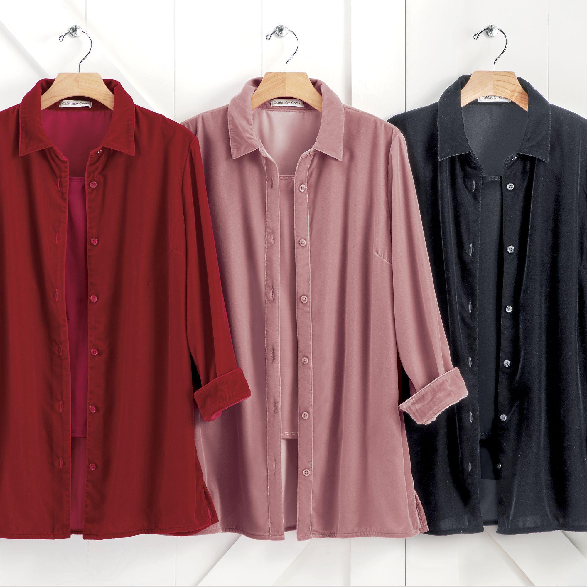 Velvet Big Shirt Casual Tunics Big Shirt Shirt Blouses