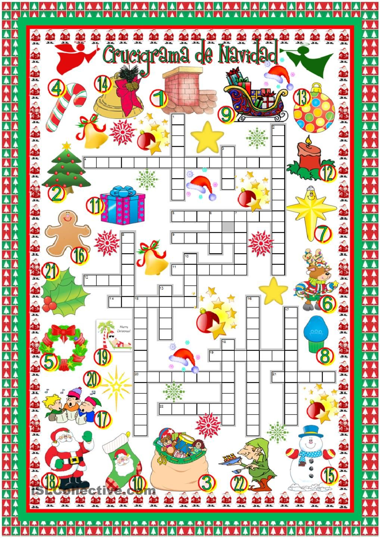 Crucigrama de Navidad | Felices Fiestas | Pinterest | Crucigrama ...