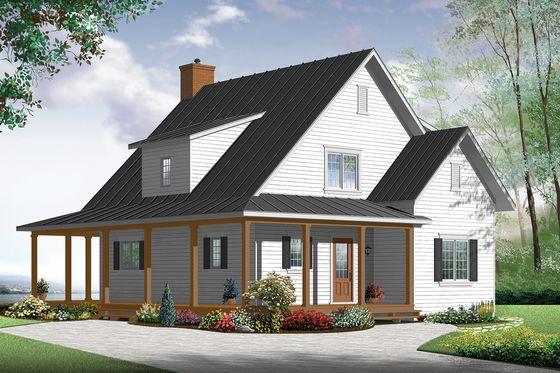 Farmhouse Style House Plan - 4 Beds 2 Baths 1617 Sq/Ft ...
