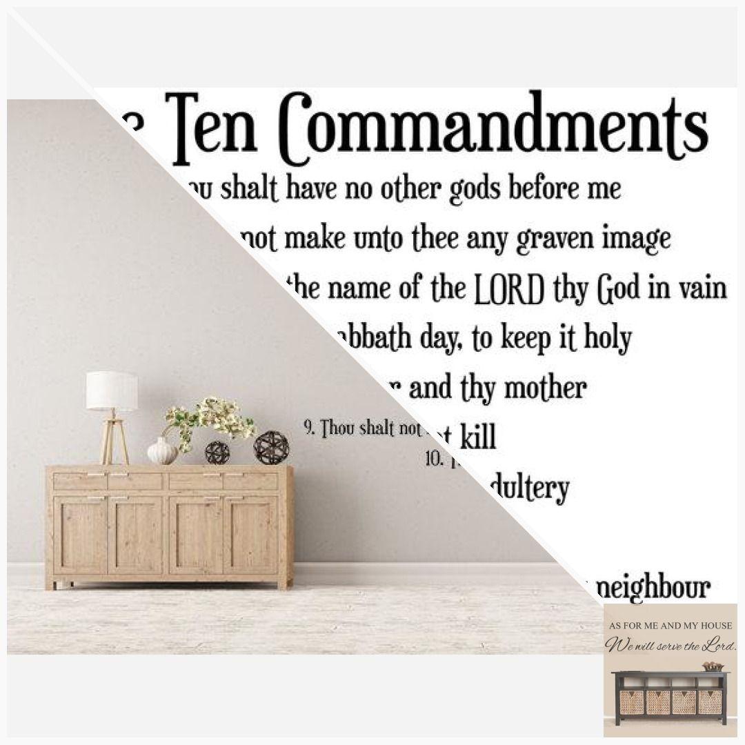 The Ten Commandments Scripture Wall Decal Kitchen Vinyl Wall Etsy Scripture Wall Decal Vinyl Wall Vinyl Wall Decals
