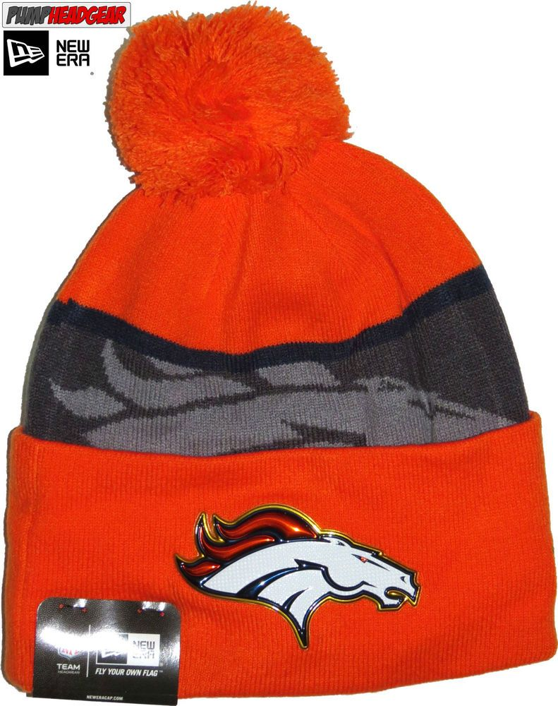 wholesale dealer e440d 9b474 Denver Broncos New Era NFL Gold Collection Team Bobble Hat