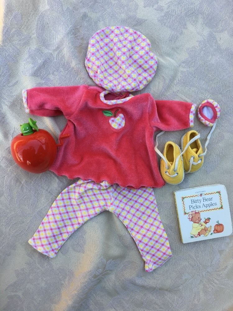 7cb78a5a1 Pleasant Company American Girl Bitty Baby Fall Apple Pick Plaid ...
