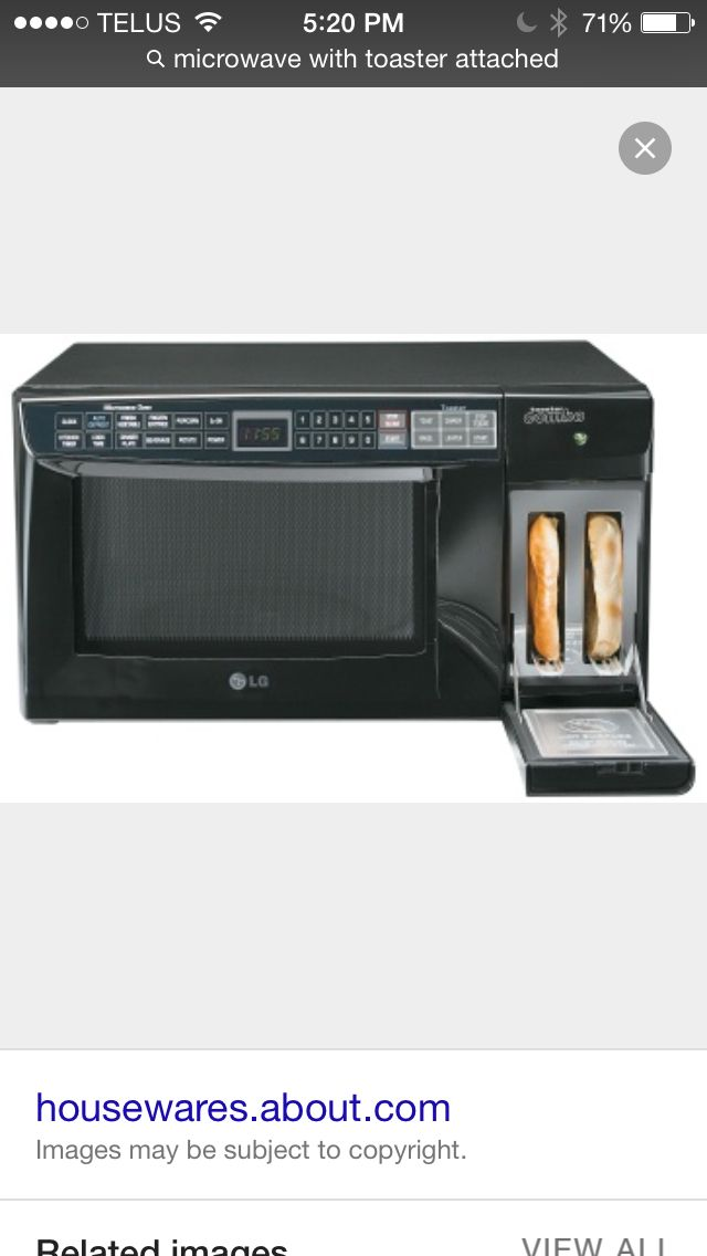 toaster with microwave small spaces
