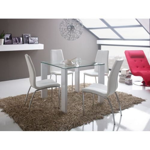 Mesa cristal cuadrada somthing differnt for your home for Mesa cristal kibuc