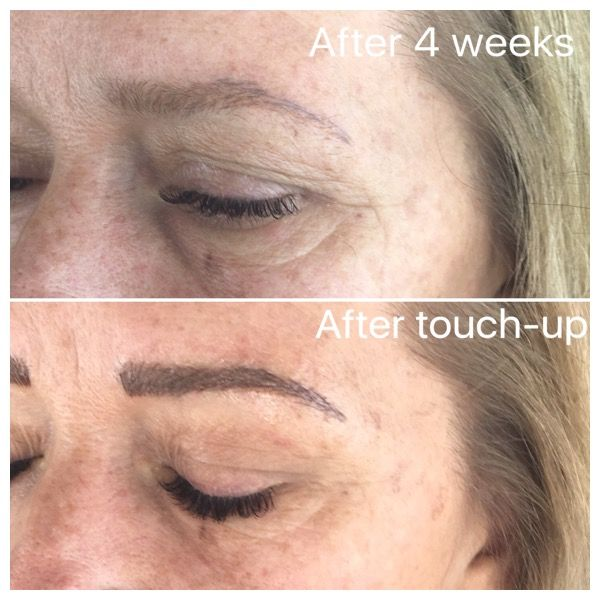 Microbladed 3D eyebrows before & after #microblading