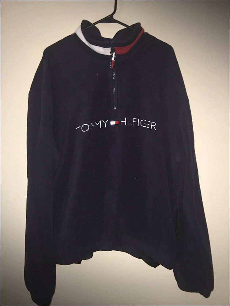 Vintage 90 s Tommy Hilfiger Spellout Polar Fleece Pullover Jacket - Size  XXL by JourneymanVintage on Etsy 245d785559