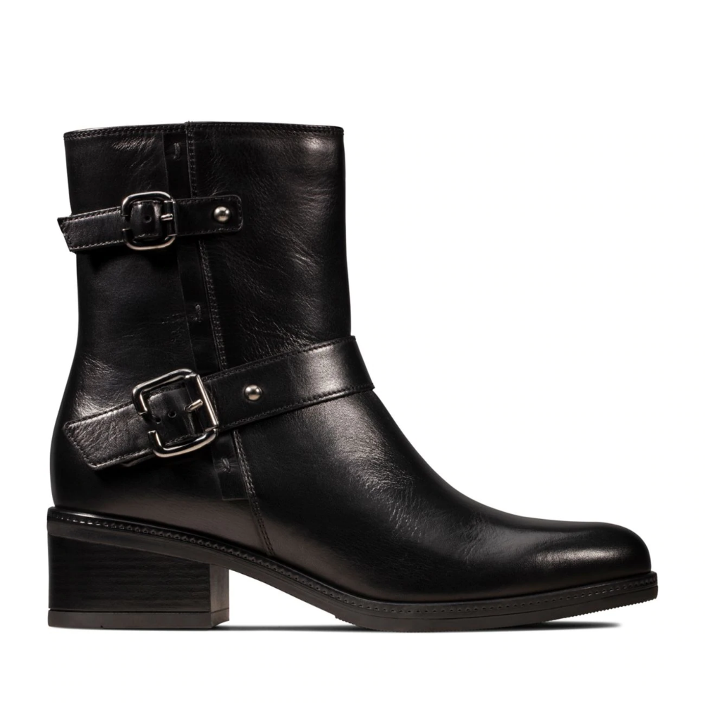 Black leather boots women, Womens boots