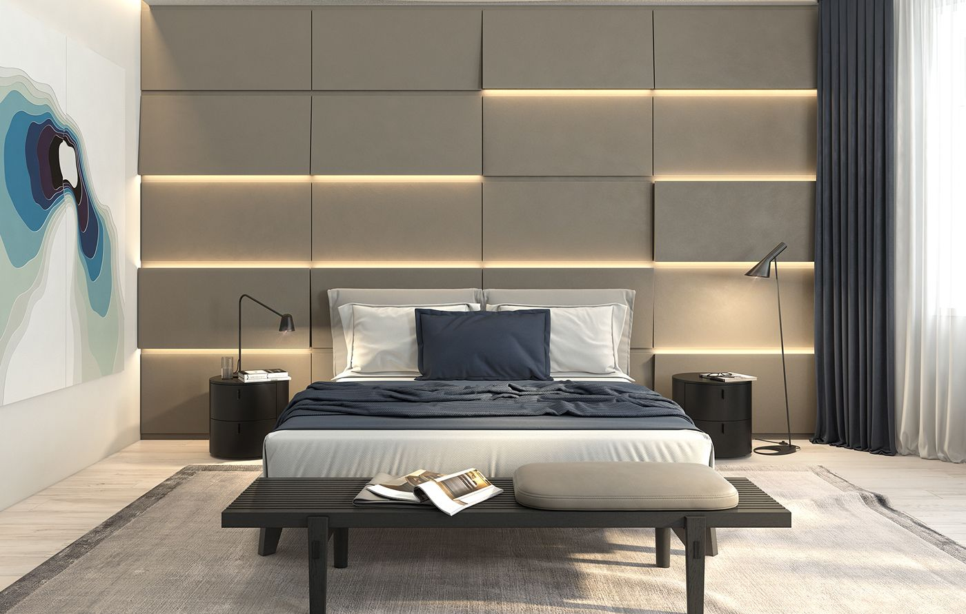 Minimalism In The Interior Bedroom For The Lady 2016 On Behance