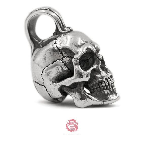 .925 Sterling Silver Skull and Crossbones Pendant MSRP $32