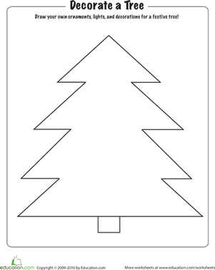 Christmas Coloring Decorate A Tree Christmas Tree Coloring Page Christmas Worksheets Christmas Colors