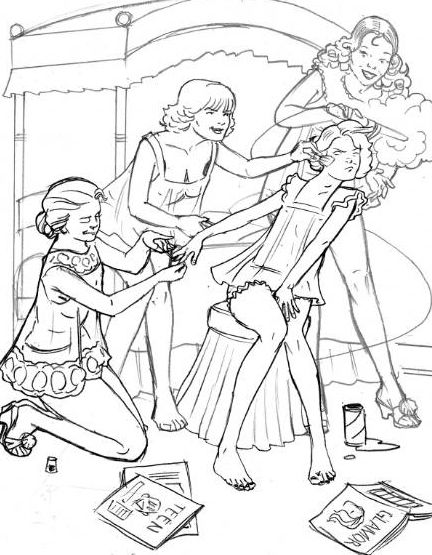 sleepover coloring pages - samantha 39 s first slumber party by danakatherine on