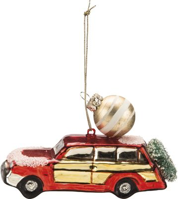 Item # 29407   Glass Car Ornament - Red   Primitives by ...