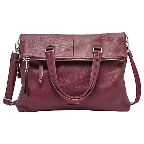 Fossil Dawson Foldover Tote Bag Online At Johnlewis