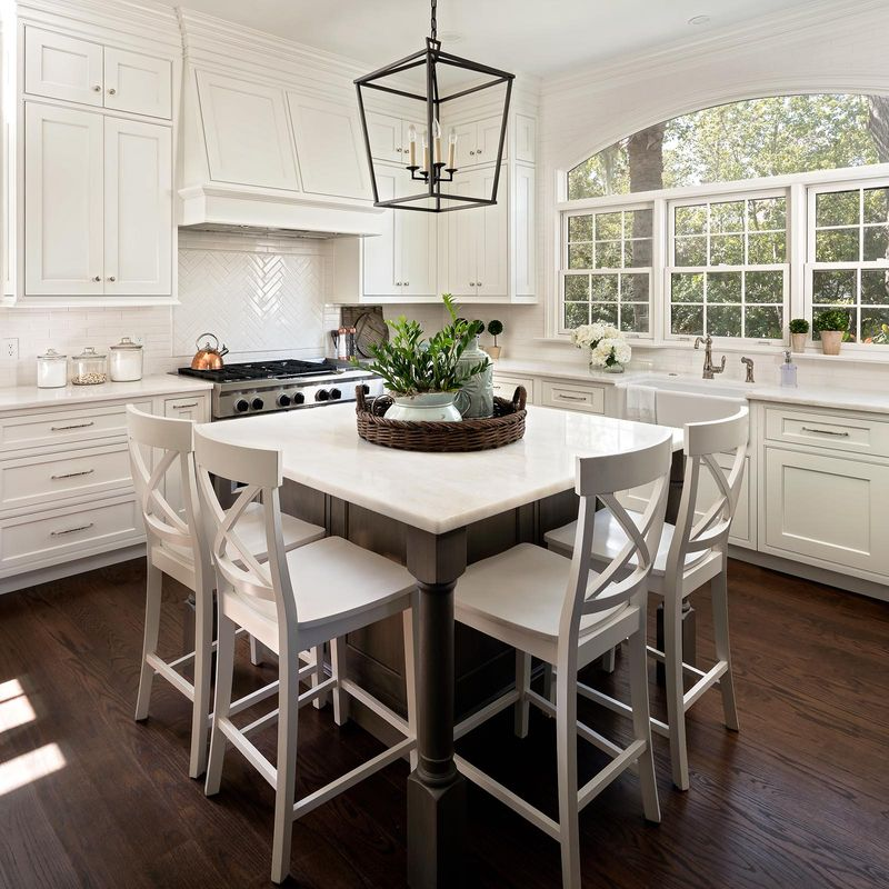 Square islands are perfect for smaller kitchens. It&39;s ...