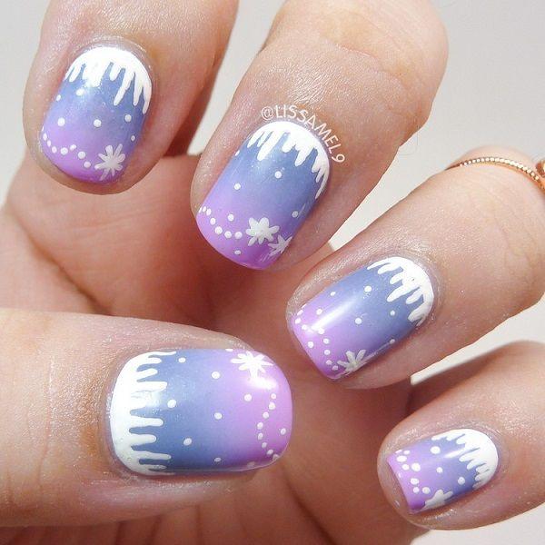 35 Snowflake Nail Art Ideas   Candy colors, Winter nails and ...