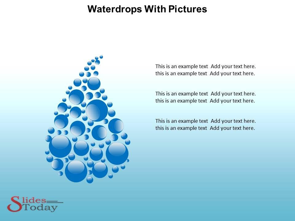 Waterdrops PowerPoint Theme Waterdrops PowerPoint Template - water powerpoint template