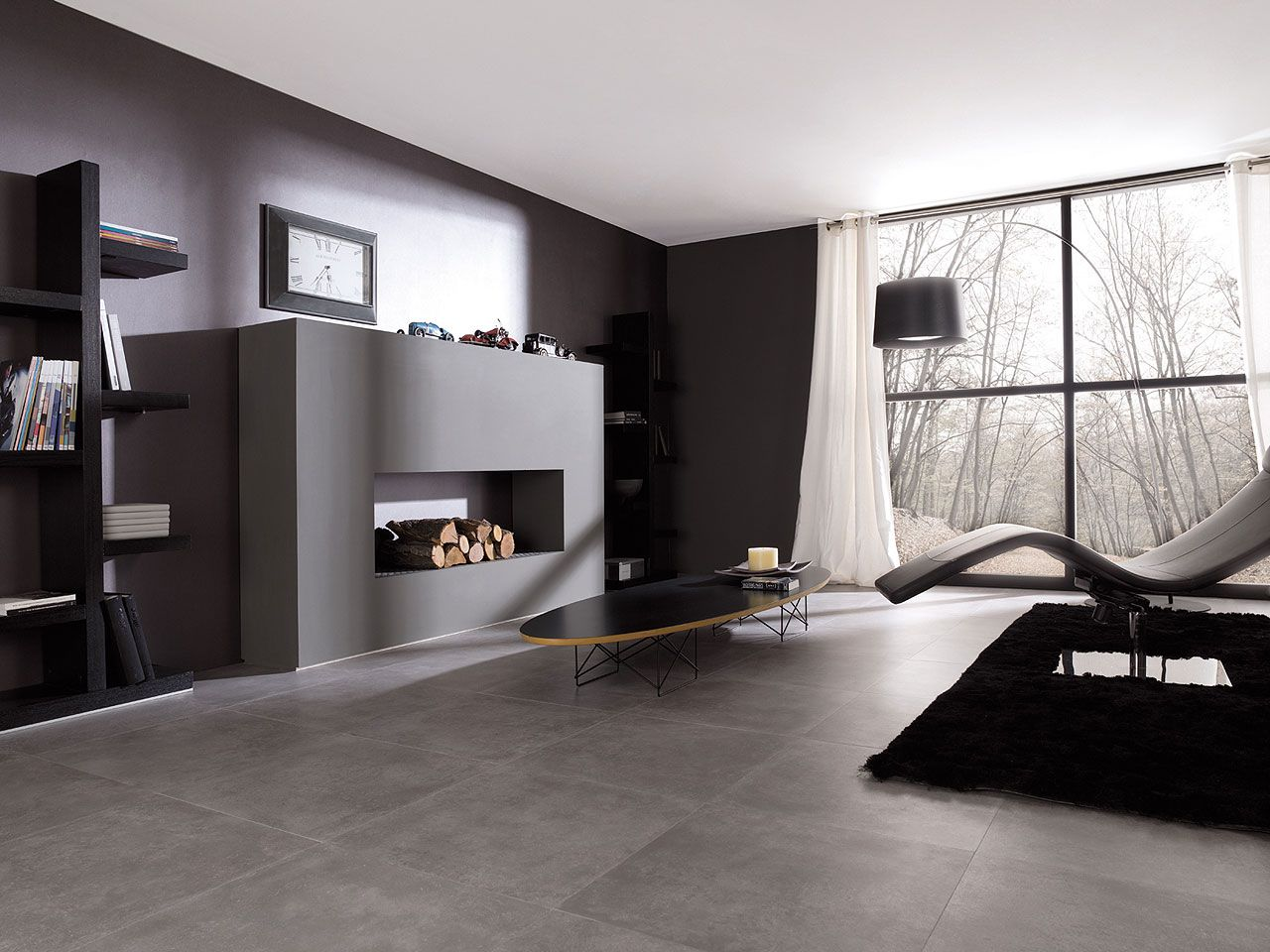 Rhin gris 596 x 596 cm microcemento pinterest stone and fireplace but a little wider and shorter porcelanosa modern floor tiles san francisco by porcelanosa usa dailygadgetfo Images