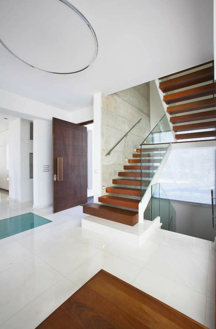 diseo de escalera suspendida moderna