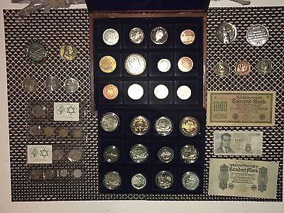 Münzen Münz Sammlung Mit Silber Gold 999 Er Vdlg Pp Alte