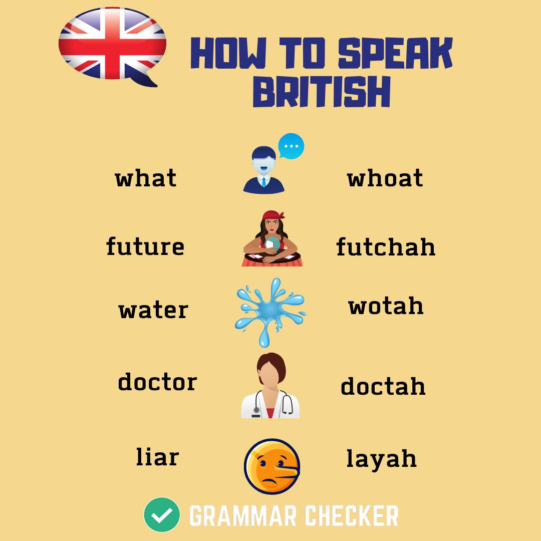 HOW TO SPEAK BRITISH in 2020 Spelling and grammar