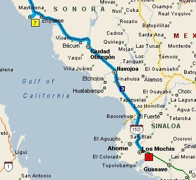 The Golden Years: Road trip from San Carlos to Los Mochis ...