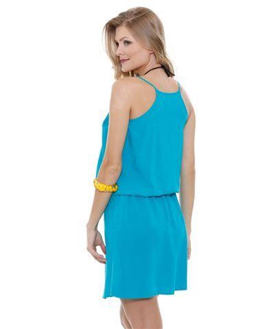 5678b533a Vestido feminino Saída de Praia Marisa. Vestido feminino saída de praia,  confeccionado em tecido viscose com alças finas. Possui elástico na  cintura, ...
