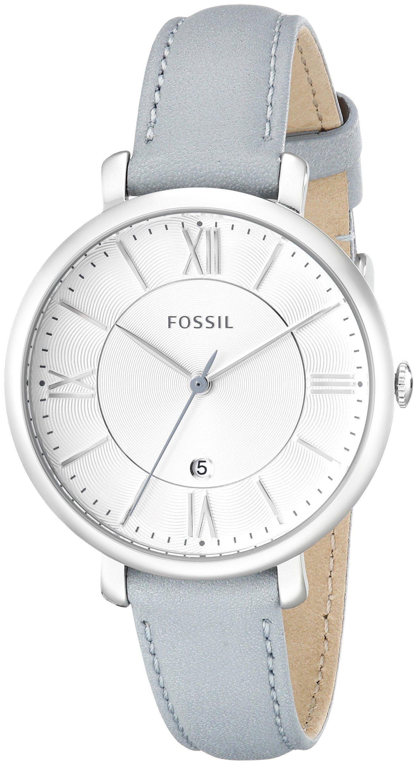 9dae6b6c88e Amazon.com  Fossil Women s ES3821 Jacqueline Analog Display Analog Quartz  Blue Watch  Watches