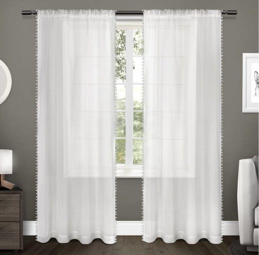 Now This Is How To Organize A Nursery Closet Pom Pom Curtains Rod Pocket Curtain Panels Rod Pocket Curtains