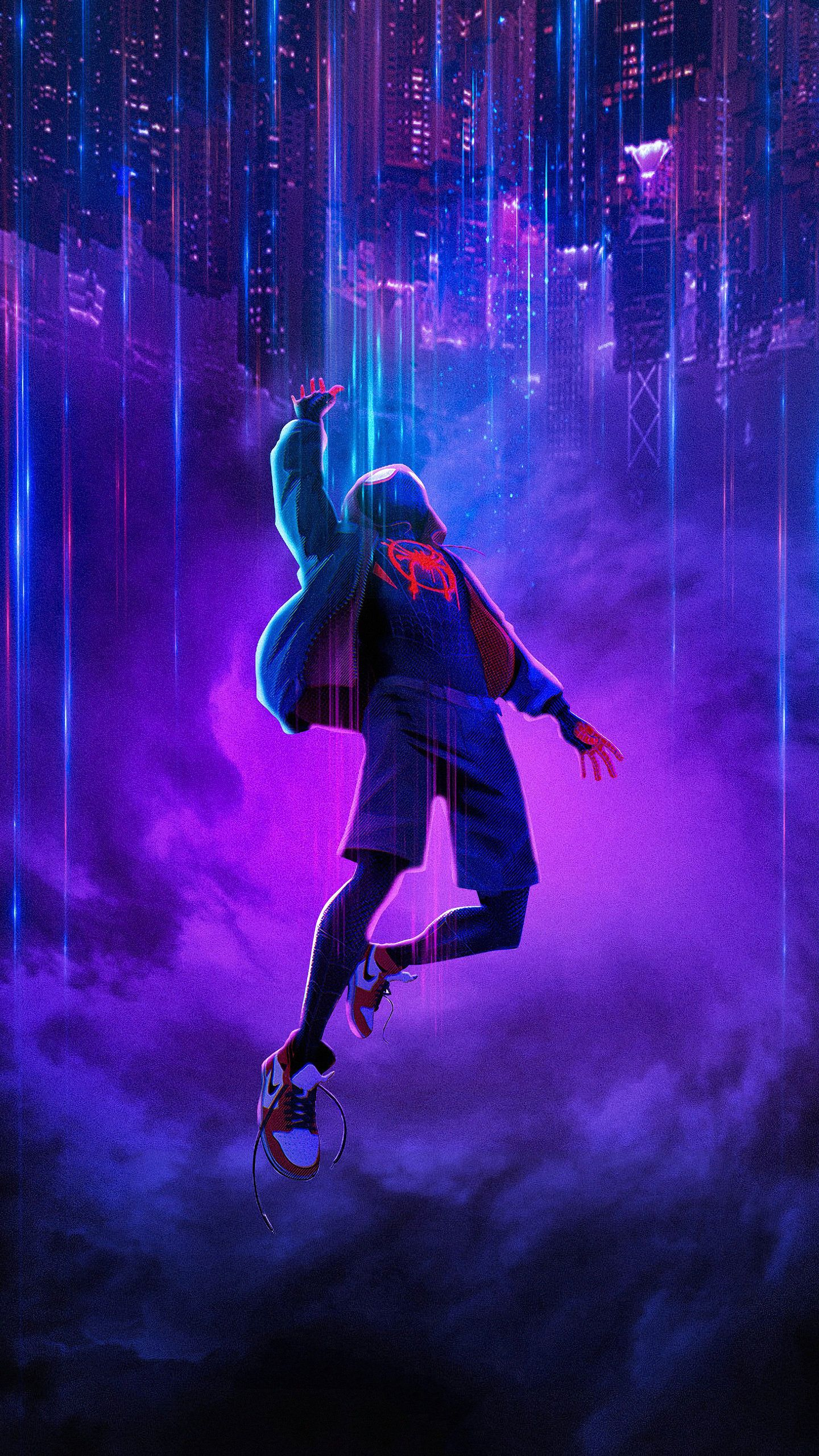 Miles Morales Spider New HD Wallpaper (1440x2560) in 2020