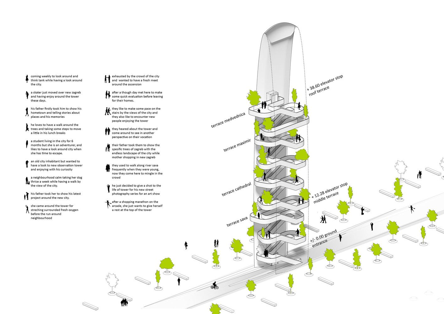 Gallery Of Superspace Proposes Timber Observation Tower And Vertical Forest For Zagreb 7 Vertical Forest Zagreb Tower