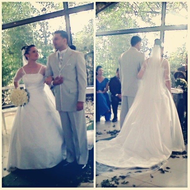 Nathalia Toledo veste Vestido de Noiva Bello&Bella Noivas