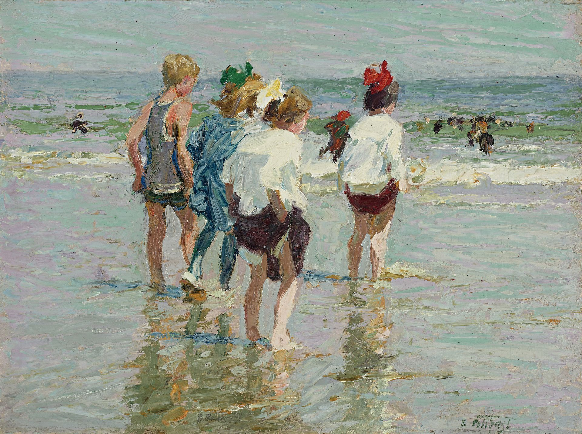 Edward Henry Potthast - Summer day, Brighton Beach