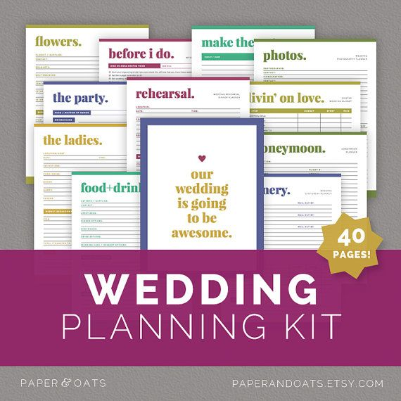 Wedding Planning Kit Wedding Planner Pdf Wedding Checklist