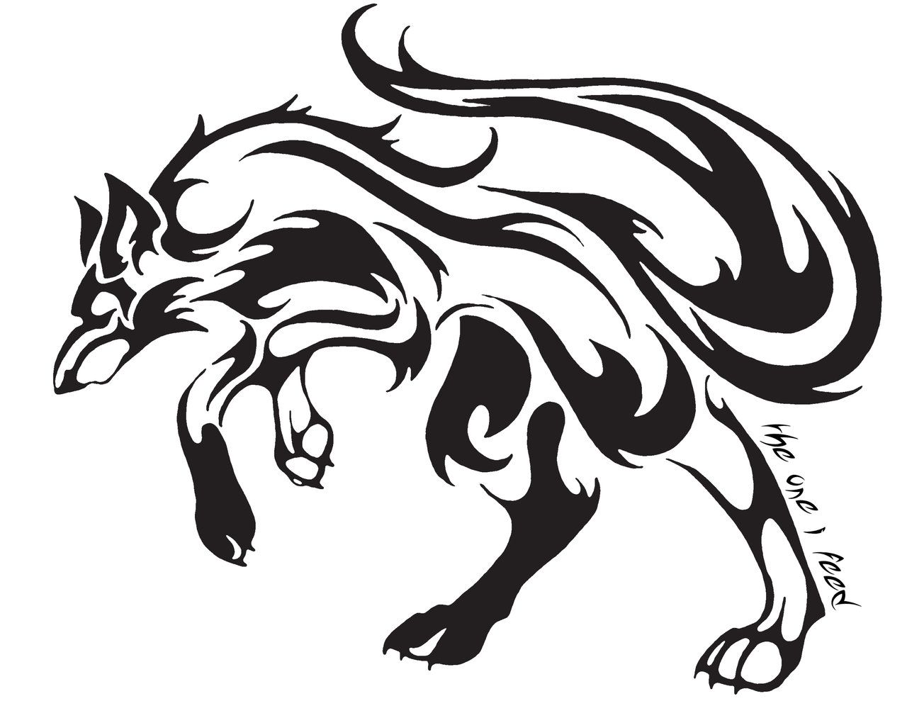 Tribal Tatoo For Love  Tribal Wolf Tattoo By Mireille Rae Designs  Interfaces Tattoo Design