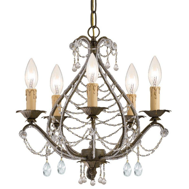 View the crystorama lighting group 4715 cl mwp abigail 5 light 16 crystorama abigail mini chandelier adorned with light topaz swarovski strass crystal aloadofball Gallery