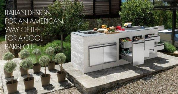cucina da esterno   muratura esterno outdoor kitchen   pinterest ... - Cucina In Muratura Da Esterno