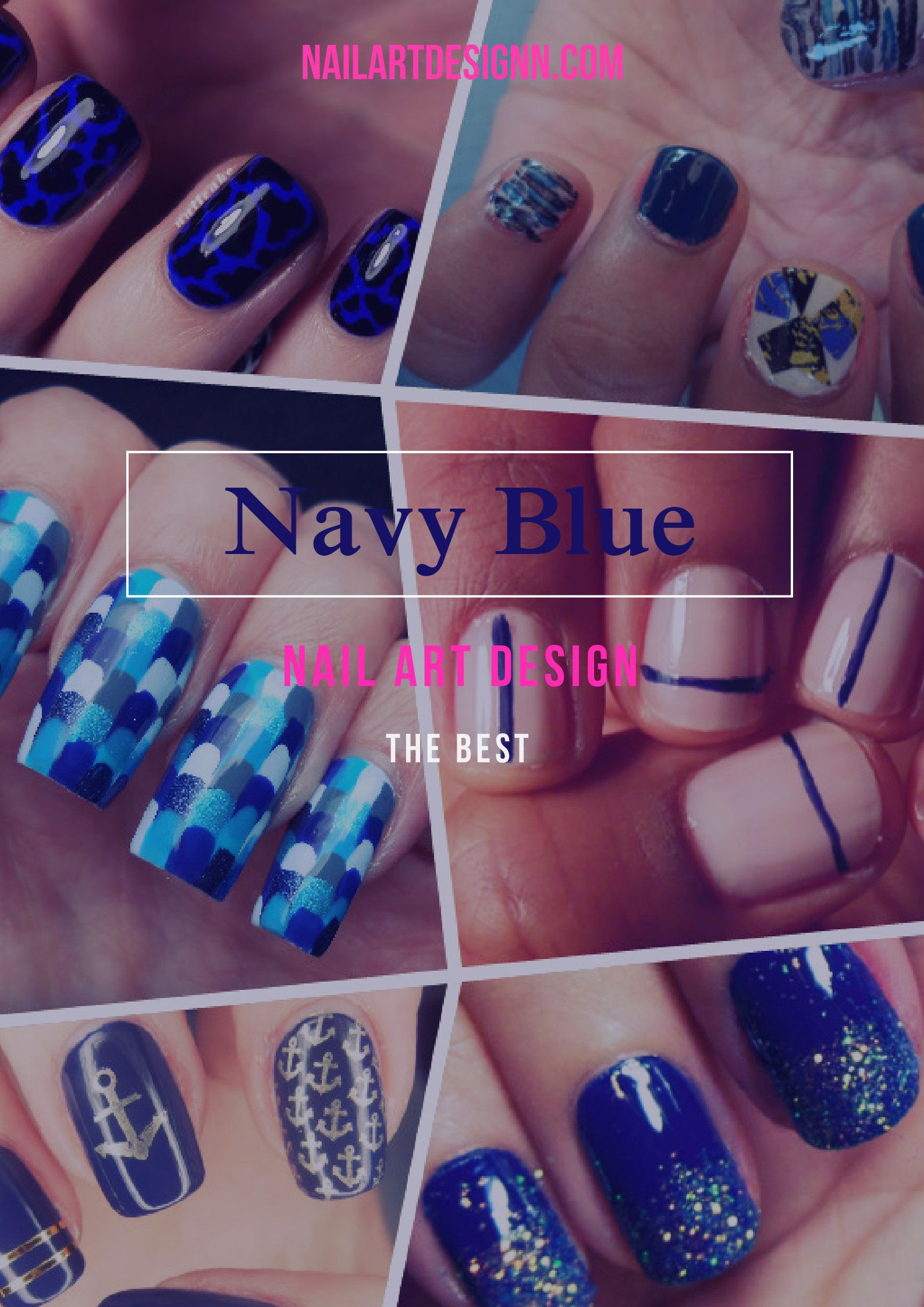 Why are navy blue nail art designs the best?   nails   Pinterest ...