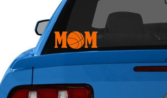 Basketball mom car decal vinyl car decal car decal basketball car sticker basketball car decal basketball decal sports car decal