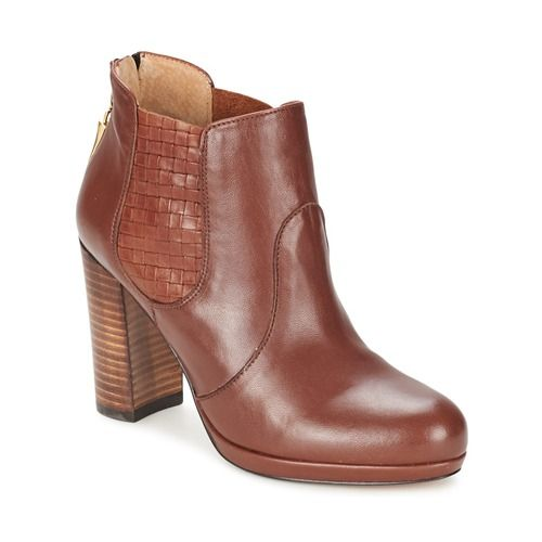 QIN&X Talon Bloc femmes Chaussures Bottillons Courts,44,chaussures Beige