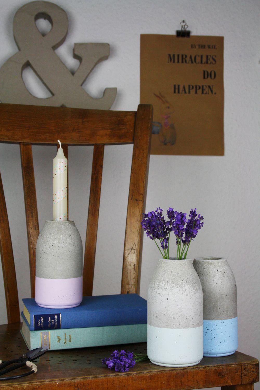 do it yourself anleitung f r eine flaschenf rmige betonvase im dipped look auf meiner stirn. Black Bedroom Furniture Sets. Home Design Ideas