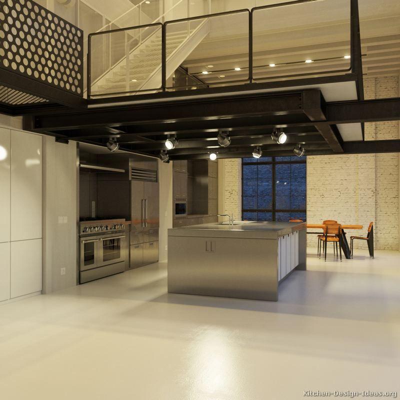 #Kitchen Idea Of The Day: Contemporary Kitchen Under A Balcony Loft. Part 39