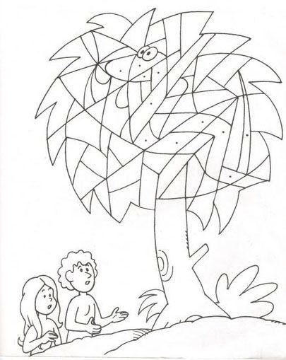 Coloriage Jeu Adam Et Eve Adam Et Eve école Du Dimanche