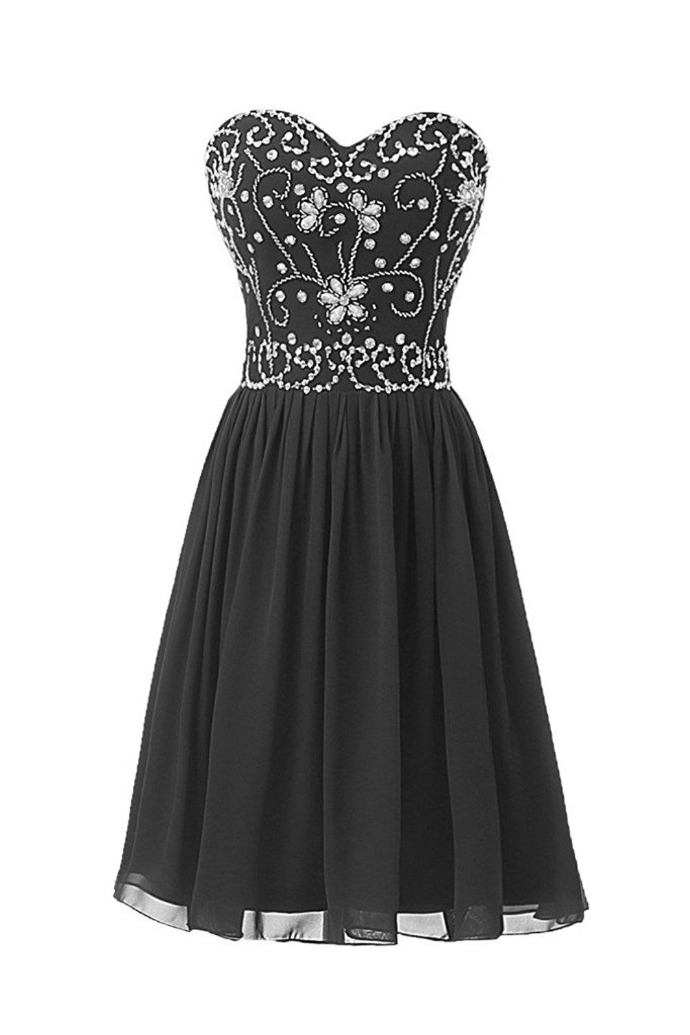 Ellames short beading prom homecoming party dresses for juniors