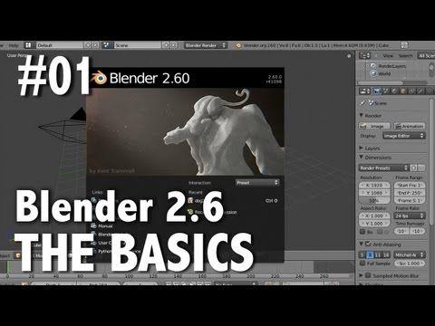 Blender 2.6 Tutorial 01 - The Basics - YouTube