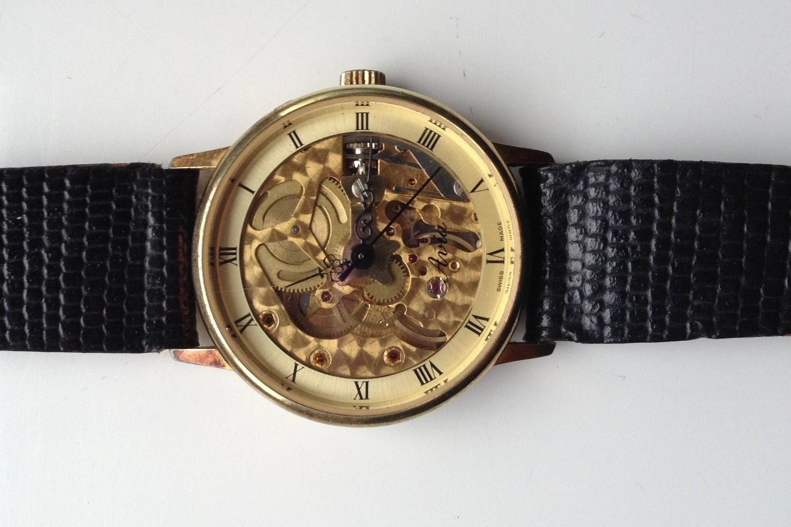 Mens vintage avia skeleton watch watches in 2019 for Classic skeleton watch