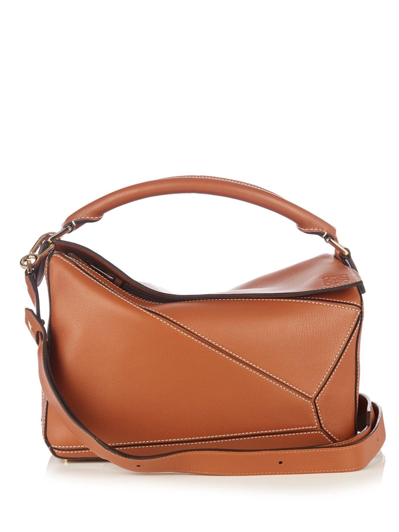 Puzzle Leather Bag Loewe Matchesfashion Com Uk