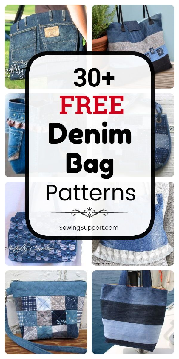 30+ Free Denim Bag Patterns #pursesandbags
